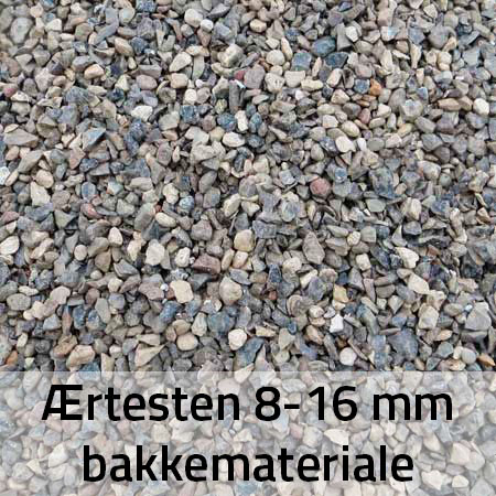 Ærtesten 8-16 mm Bakkemateriale