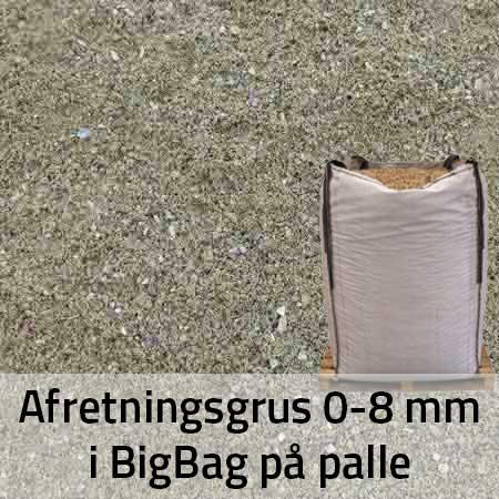Afretningsgrus 0-8 mm i BigBag på Palle