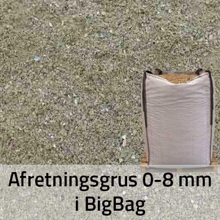 Afretningsgrus 0-8 mm i BigBag