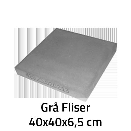 Grå Fliser 40x40x6,5 cm