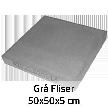 Grå Fliser 50x50x5 cm