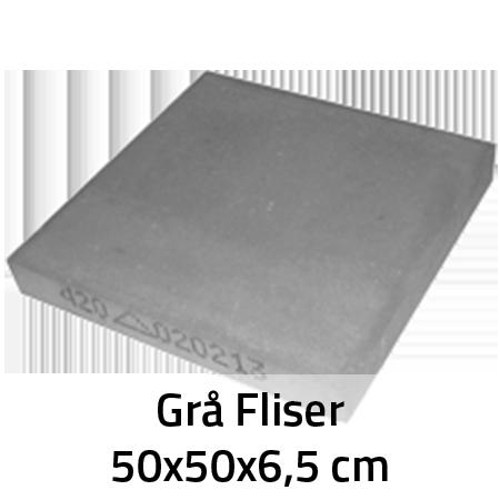 Grå Fliser 50x50x6,5 cm