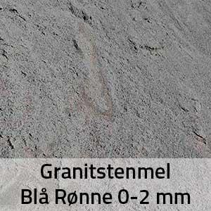 Granitstenmel Blå Rønne 0-2 mm