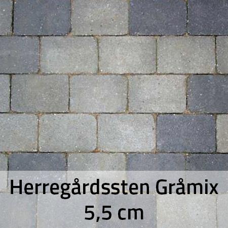 Herregårdssten Gråmix 5,5 cm
