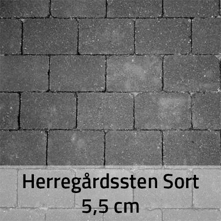 Sorte Herregårdssten 5,5 cm