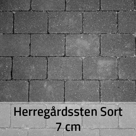 Herregårdssten sort 7 cm