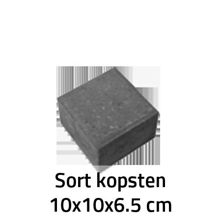 Sort Kopsten 10x10x6,5