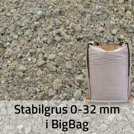 Stabilgrus 0-32 mm i BigBag