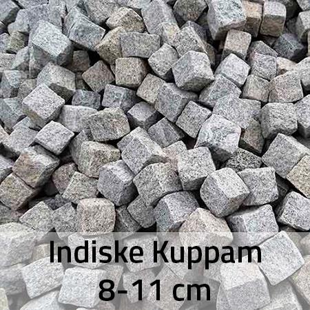 Indiske kuppam chaussésten 8-11 cm