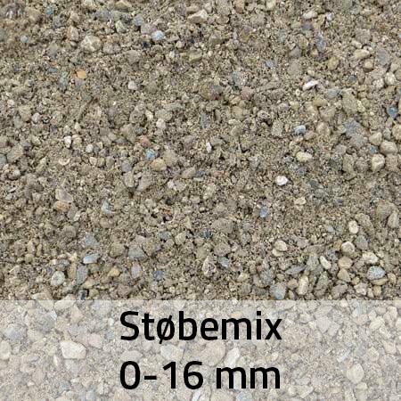Støbemix 0-16 mm