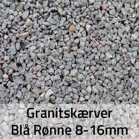 Granitskærver Blå Rønne 8-16 mm