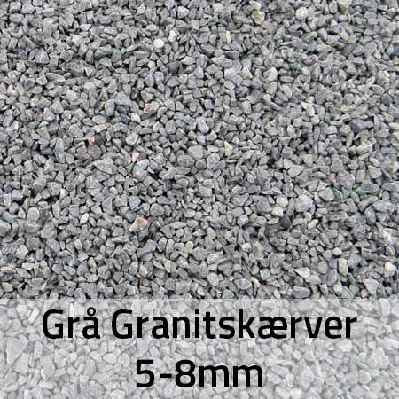 Grå granitskærver 5-8 mm