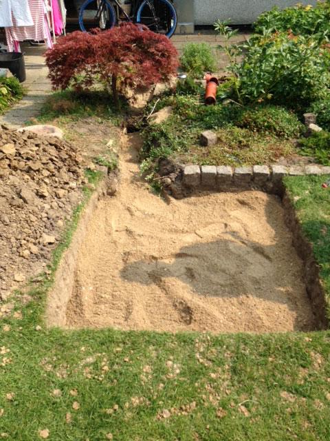 udgravning til faskine