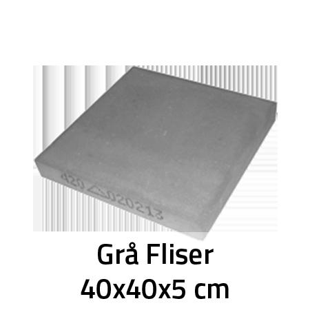 Udestående Grå fliser 40x40x5 cm - Jord, Grus og Sten NW68